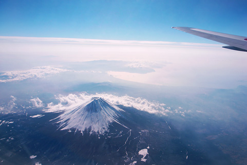 Mt Fuji from air