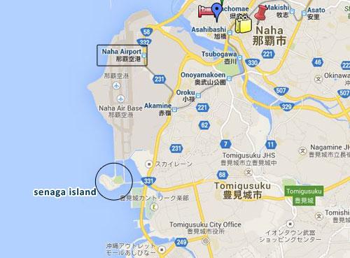 map senaga island