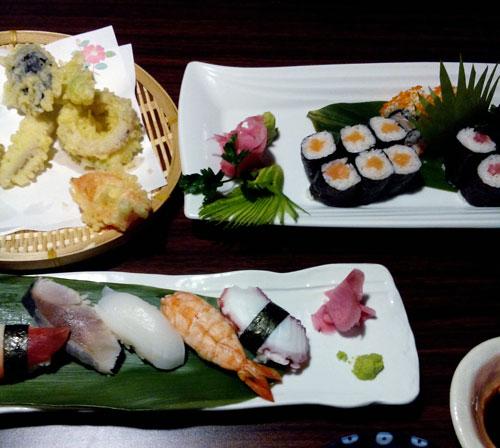 sushi,tempura