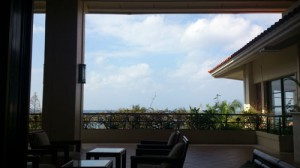 ocean view from lobby